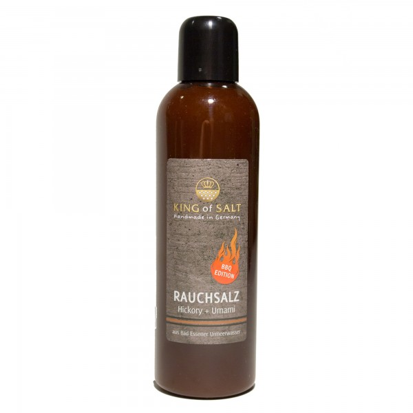 King of Salt Rauchsalz Hickory + Umami, 200 ml Squeezeflasche
