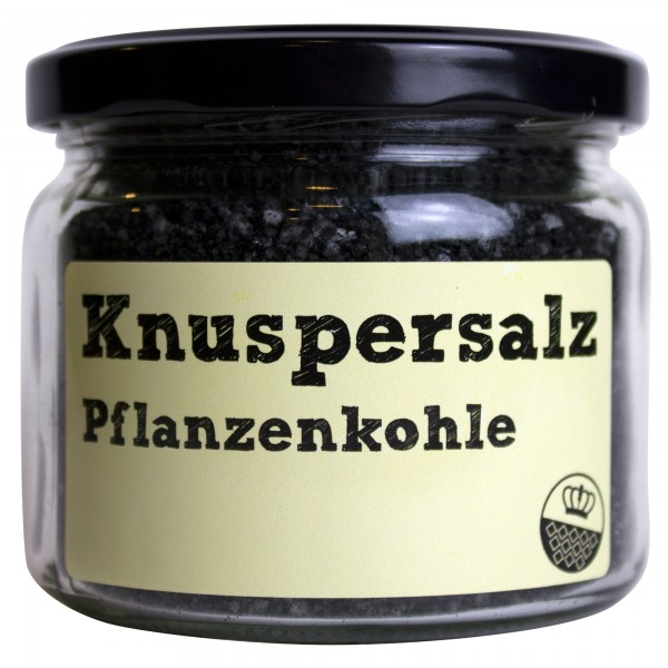 King of Salt Knuspersalz Pflanzenkohle, 200 g